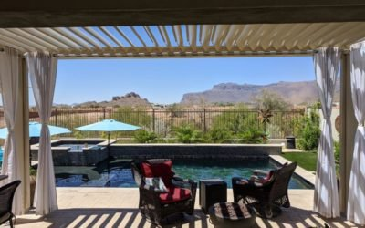 Equinox Louvered Roof patio cover extension in Gold Canyon, AZ